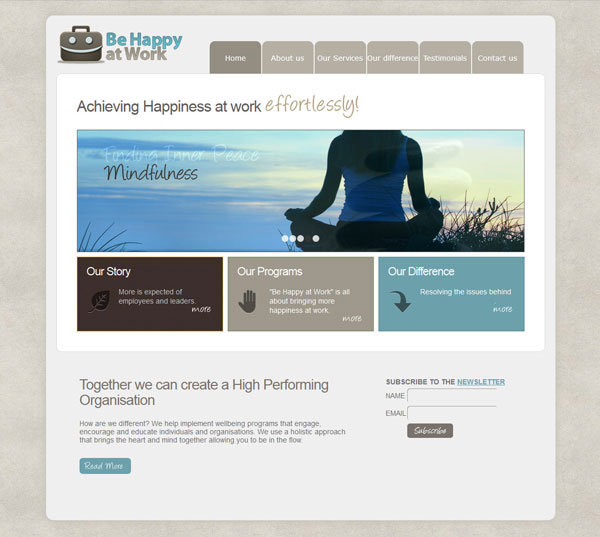 Be Happy at Work Website